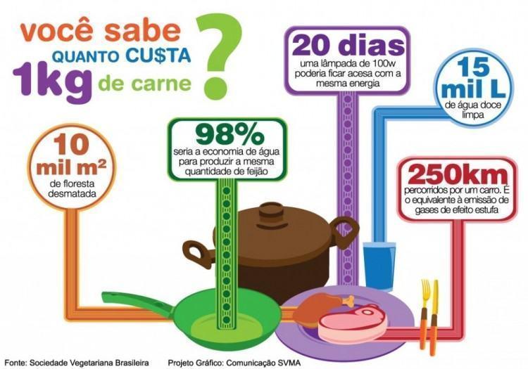 O impacto ambiental do consumo de carne