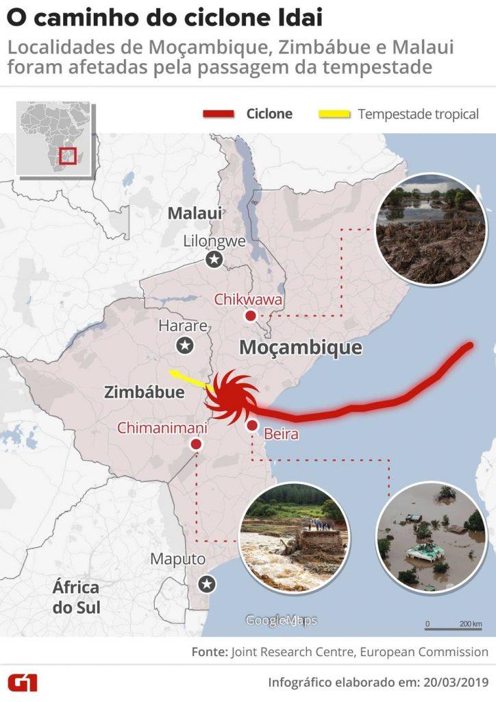 Caminho do Ciclone Idai, Moçambique